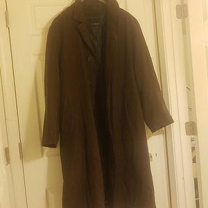 Women's brown suede overcoat